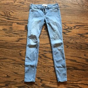 Hollister light wash skinny jeans